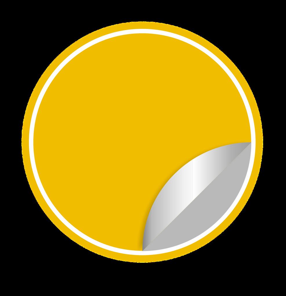 מדבקה צהובה
